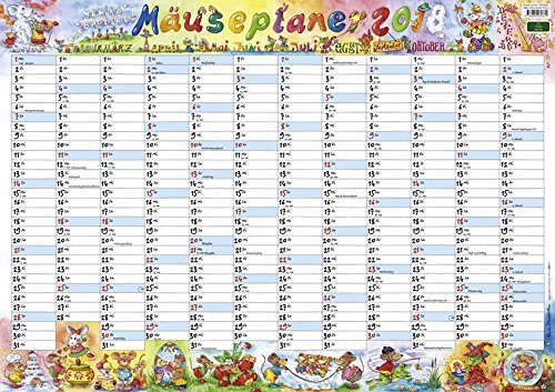 Wandplaner Wilde Mäuse - Kalender 2018