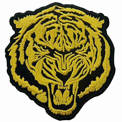 Zegin toppa ricamata da applicare con ferro da stiro o cucitura, tema: la tigre d'oro roaring