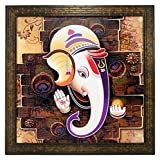 #10: Indianara Lord Ganesha Paintings (1351) Without Glass 13.8 X 13.8 inch