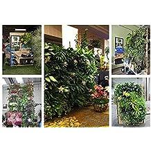 9 Bolsillos Bolsas Vertical Colgante Decoración Jardín de Hierbas Planta Pared Interior / Exterior Verde