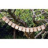 """Musuntas® Garland vintage / rústico kraft cartón """"Just Married"""" - como decoración para la boda con letras blancas """"Just Married"""""""