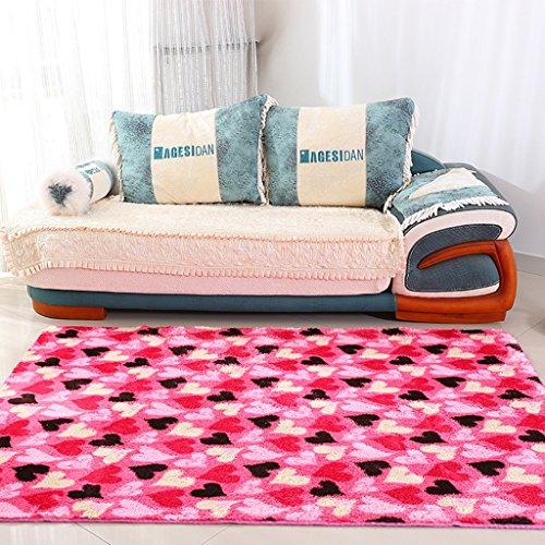 GJM Shop Bereich Teppich --- Rechteck Schuh Baumwolle Verdickung Teppich Moderner Nachttischtisch Neben Teppich Schlafzimmer Mode...