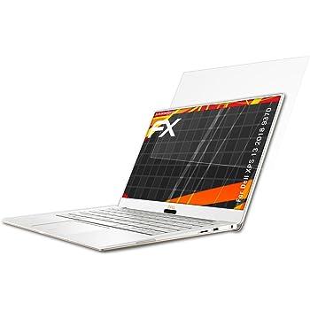 2X Version 2015 Displayschutzfolie atFolix Schutzfolie kompatibel mit Dell XPS 13 Ultrabook 9343 QHD+ HD-Entspiegelung FX Folie
