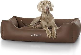 Knuffelwuff Leder Hundebett Sidney - Größe: M bis XXXL