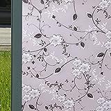 YQ WHJB Selbstklebend Fensterfolien,Glasfolie milchglas,Privatsphäre Fensteraufkleber Blickdichter Sonnenschutz Anti-UV PVC Ex-Schutz Badezimmer Office Fenster-Aufkleber-A 60x200cm(24x79inch)
