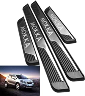 N//A 4Pcs Stainless Steel Door Sill Scuff Plate for Opel Grandland X SUV 2018 2019 Protectors Trim Kick Plates Guard Pedal Threshold Bar Car Styling Accessory