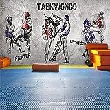 AIKE Wallpaper Kreative Persönlichkeit Graffiti 3D Anpassbare Wandbild Dekoration Yoga Raum/Gym / Boxing Hall/Taekwondo, A