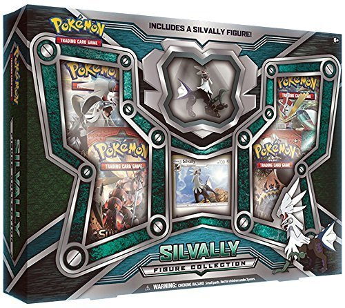 Pokémon tcg: scatola di raccolta di figura lucida e silvally