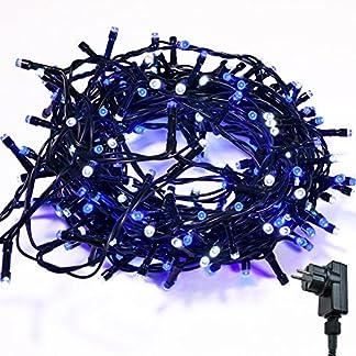 Lichterkette-WISD-Zwei-Farben-Beleuchtung-fr-Innen-und-Auen-mit-EU-Stecker-von-31V-Transformator-auf-Dunkelgrn-Kabel-fr-Weihnachten-Garten-Zuhause-Hochzeit-Deko