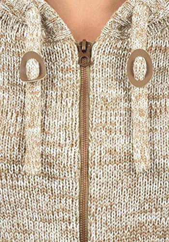 DESIRES Philadelphia Damen Strickjacke Cardigan mit Kapuze aus 100% Baumwolle Meliert Dune (5409)