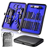 Manicure Set, Bihuo 18 In 1 Stainless Steel Professional Pedicure Kit Nail Scissors