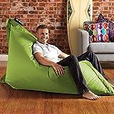 BAZAAR BAG ® - Giant Beanbag - Indoor & Outdoor Bean Bag - MASSIVE 180x140cm - GREAT for Garden (Lime Green)