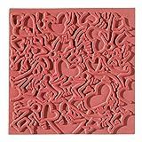 efco Alfombrilla de textura (goma, 9 x 9 x 1 cm), color naranja