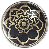 Noosa Chunk Flower of Life black/gold metal/resin