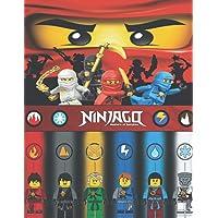 Ninjago: livre de coloriage: superbes pages à colorier