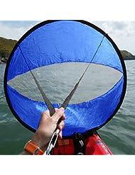 "42 \ ""Accesorios Kayak A Favor Del Viento De Paddle Viento Emergente Canoa Kayak Vela Azul"