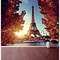 Paris Eiffel Tower Autumn Time-Adesivo da parete, motivo: carta da parati, motivo: Relax, X Large 1900mm x 1488mm