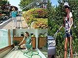 #2: 50FT/15M Garden Hose Expandable Magic Flexible Water Hose EU Hose Plastic Hoses Pipe With Spray Gun Washing Car Watering