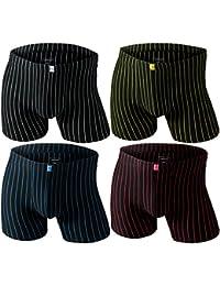 4er Pack Remixx Herrenboxershorts aus Baumwolle in edlem Streifen-Design in 4 Farben und 4 Größen