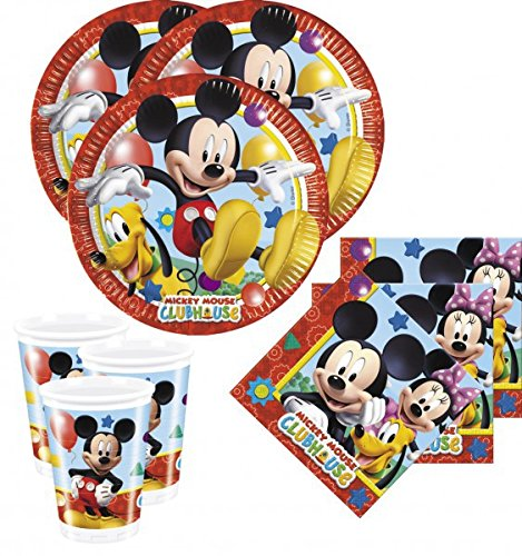 Clubhaus Spielzeug Mickey-mouse (52 Teile Disney Micky Maus Party Deko Set)