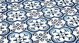 Traditionell Portugiesische Fliesenaufkleber Blau Wandmuster Dekor Ideen (Packung mit 24) (BODEN - 30 x 30 cm)
