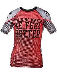 0f2db9a5f Rule Out Manga Corta Camiseta De Neopreno camiseta Entrenamiento Me Hace  Sentir mejor. Gimnasio entrenamiento