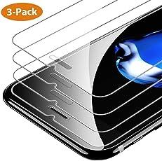 [3 Stück] iPhone 8/7 / 6s / 6 Panzerglas Schutzfolie, 9H Härte, Anti-Kratzen, Anti-Öl, Anti-Bläschen Schutzfolie, 3D-Touch, mit Hülle Verwendbar, Leicht Anzubringen Displayschutzfolie