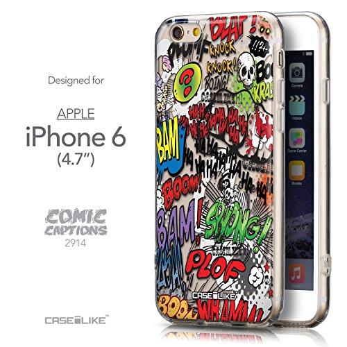 CASEiLIKE Wandschmierereien 2703 Ultra Slim Back Hart Plastik Stoßstange Hülle Cover for Apple iPhone 6 / 6S (4.7 inch) +Folie Displayschutzfolie +Eingabestift Touchstift (Zufällige Farbe) 2914