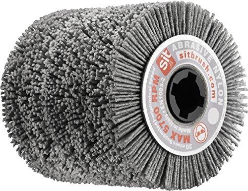 Sit tecnospazzole 1360 Brosse pour ponceuse à fil ondulé en nylon abrasivo-rsf Bandeau spazzolante 100 mm-flex-ø : 100 mm