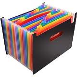 CNASA Cartella portadocumenti espandibile, Ideale per scuola, lavoro o casa, cartella fisarmonica,24 tasche