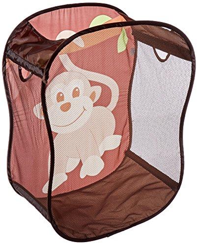 *Spielzeugkorb – Wäschkorb fürs Kinderzimmer – Braun mit Äffchen, faltbar*