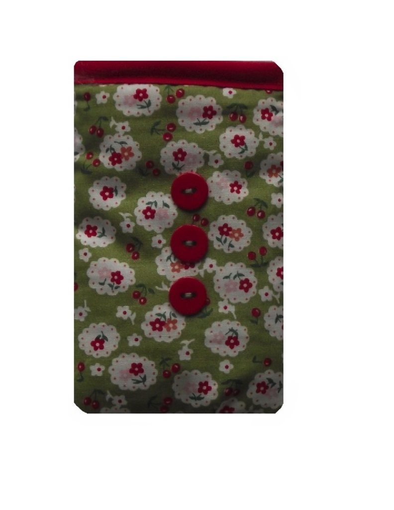 Cute Green Cherry Blossom Mobile Phone Sock Pouch for HTC 530