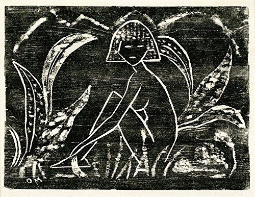 Das Museum Outlet–Otto Mueller–Madchen zwischen Blattpflanzen–1912, gespannte Leinwand Galerie verpackt. 96,5x 121,9cm