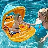 WISHTIME Aufblasbares Schwimmbrett für Babys, Einzigartiges Design, Schwimmring, Pool-Spielzeug mit Griff, schnell aufblasen und Spaß auf Dem Wasser für Kinder ab 3 Jahren