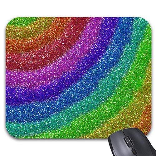 Mousepad Glitters Rainbow Mousepad Stilvolles Büro-Accessoire,Gummimatte 11,8