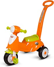 Baybee Vepsa Tricycle with Parental Control Handle (Orange)