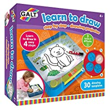 Galt Toys, Learn to Draw, Step by Step Drawing Lightbox Kit, Ages 4+