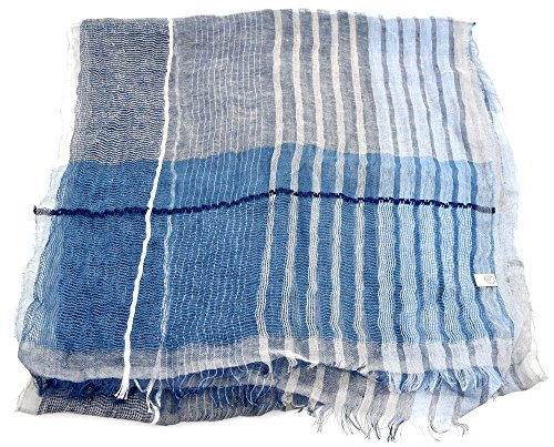 Preisvergleich Produktbild ARMANI COLLEZIONI WOMAN PASHMINA SCARF AVIATION CODE 645051 7P728 00034 UNICA - ONE SIZE BLU AVIAZIONE - AVIATION BLUE