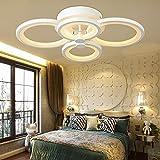 LED Deckenleuchte, 8014 Creative Fashion Salon Schlafzimmer Esszimmer runde Leuchte Studie, simplemodern Beleuchtung Deckenleuchten Lampe Laterne Lampen (Farbe: grün HOT-4-Kopf/62 * 40 cm).