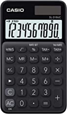 Casio SL-310UC-BK Taschenrechner, 10-stellig, in zehn Farbvarianten