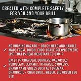 Neueste BBQ Grillbürste - Lebenslange Ersatzgarantie - Best bewertete Grill bürste - Zubehör für den Grill oder den BBQ - Reinigungsbürste mit Edelstahlborsten, ideal für Barbecue, Gasgrill Elektrogrill - 4