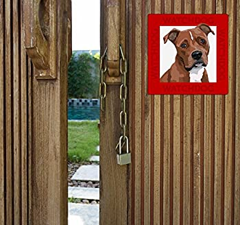 American Staffordshire Terrier panneau plaque chien de garde 22 x 22 cm
