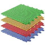 Bodenfliesen Kunststoff Safe & Protect | Stecksystem | 16 Stück | 1m² | In 4 Farben (rot)