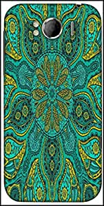 Snoogg Ornamental Lace Pattern Designer Protective Back Case Cover For HTC Sensation Xl
