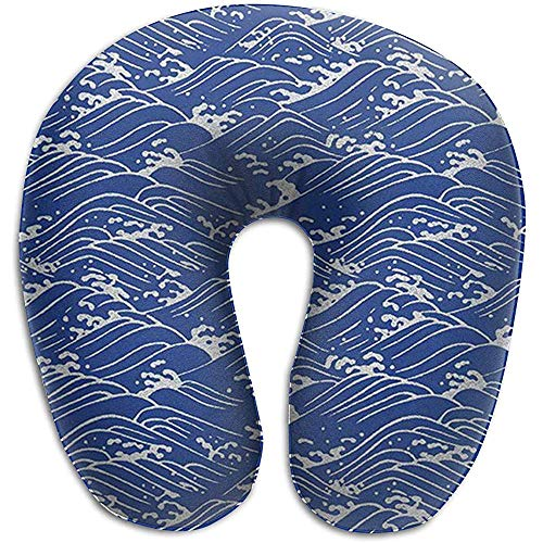 YSamuel Ocean Sea Wave Memory Foam-Nackenkissen Bequeme, weiche U-förmige Kopfstütze für das Zervixkissen
