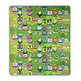 Smibie Baby Spielteppich 200x180 Spielmatte wasserdichte Puzzlematte Kinderteppich Zwei Seite für Innen / Außen Alphabet Zahlen