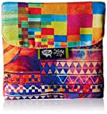 Kanvas Katha Trifold Sanitary Napkin Printed Canvas Pouch Holder (Multi-Color) (KKSP006)
