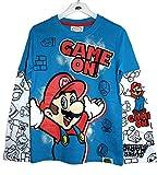 Official Nintendo Super Mario Age 11-12 Super Mario Boys T-Shirt Blue / 152cm