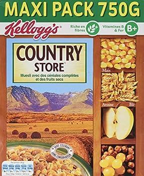 Kellogg's Céréales Muesli Country Store 750 g - Lot de 3