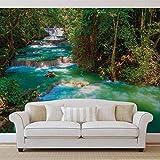 Wasserfälle Bäume Wald Natur - Forwall - Fototapete - Tapete - Fotomural - Mural Wandbild - (1968WM) - XXXL - 416cm x 254cm - VLIES (EasyInstall) - 4 Pieces